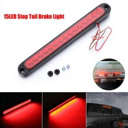 1PC 25CM 15 LED Röd förseglad släpvagn Truck RV Stop Tail Rear Brak Red