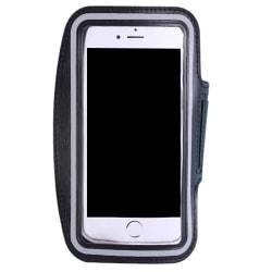 1Pc Sport armband fodral för 5,5 tum telefon gym löpning justering Black