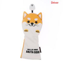 1st Premium 1 3 5 UT Headcover Golf AKITA Dog Style Woods Driv