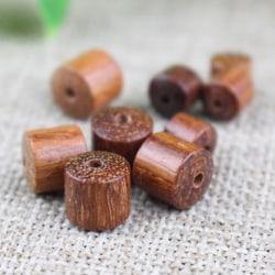 20st 6mm runda naturliga träpärlor Trä Spacer pärla DIY juvel N