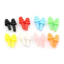 20st silikon öronproppar anti-buller öronproppar bekväma för St. Black