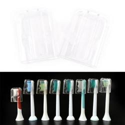 2st Elektrisk tandborsthuvud Skyddande fodral Tandborste