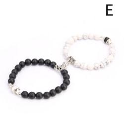 2st Magnetarmband par parade armband älskare smycken Valent E