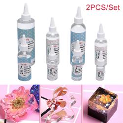 2PCS / Set AB lim kristallklart epoxiharts för smyckestillverkning D 400g