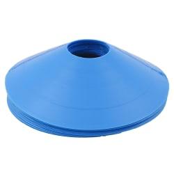 10st / set fotbollsskivor hinkmarkör träningsskylt platta kottar m Blue