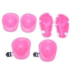 6st / set barn skridsko cykel skyddsutrustning knä armbåge s Pink
