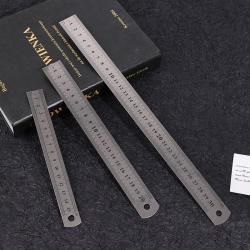 3st rostfritt stål linjal för Engineering School Office 15cm / 2