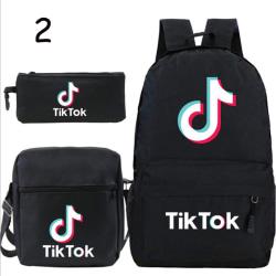 3st Tik Tok ryggsäck flickor pojkar bärbar ryggsäck tonåringar ca 2