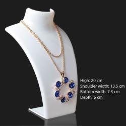 4 färger akryl skyltdocka halsband smycken display hållare örhängen White