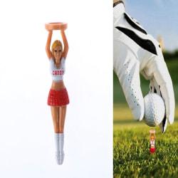 4PCS / Set Outdoor Girl Golf Tees Plast Golfhållare för golfare