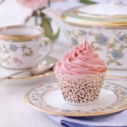 50 Filigree Little Vine Lace Laser Cut Cupcake Wrapper Liner Ba white