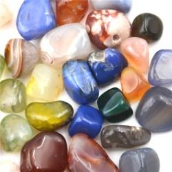 50g Blandade färger Naturliga agatstenar Ädelsten Rock Tumble Ston 0 0