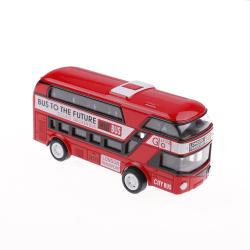 kid metal diecast bilar leksaker drar tillbaka 1:43 dubbeldäckare london Red