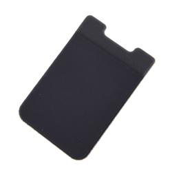 56X90 MM elastisk Lycra mobiltelefon plånboksfod kredit ID-kort Hol Black