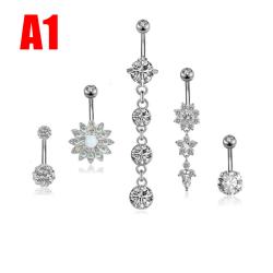 5st / Set Kirurgiskt stål Piercingar Navel Piercingar navel Silver