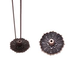 9 hål Lotus rökelse brännare hållare blomma staty censer tallrik