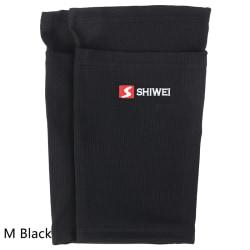2 st fotbollsskyddande strumpor benskydd med fickkuddar benärm M Black