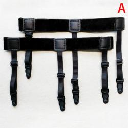 Justerbar skjortstångshållare Elastiska hängslen för män B