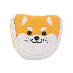 Akita Shiba Inu Dog Golf Mallet Putter Cover Magnetc Headcover Yellow