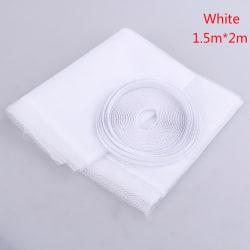 Anti-insektsfluga buggar myggdörr fönstret gardin nätet scree 1.5m*2m White
