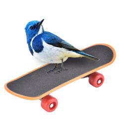 fågel träning skateboard plast stent skrubba skoter skateboar 13.5cmx4.2cmx3cm