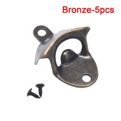 Flasköppnare Väggmonterade verktyg Dricker heminredning Kök Pa Bronze 5pcs