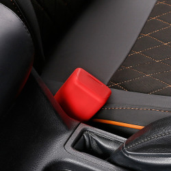 Säkerhetsbälte för bilsäkerhet Silikonskydd Anti-Scratch säkerhetsbälte Red B