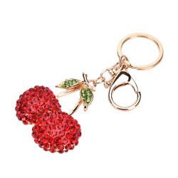 Crystal Rhinestone Nyckelring Charm Hänge Väska Nyckelring Cha red