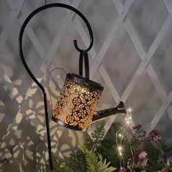 utomhus sol vattenkanna prydnad lampa trädgård konst ljus decora