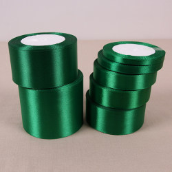 Mörkgrön 25 Yards Silk Satin Ribbon Wedding Party Decoration Blackish green 40mm