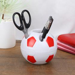 1 st fotbollsformad tandborste pennahållare skrivbordshylla Red