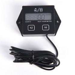 Digital Engine Tach Tachometer Hour Meter Induktiv för motorcykel