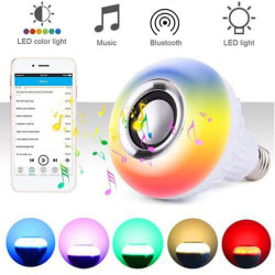 E27 LED-lampa Trådlös Bluetooth-ljudhögtalare Music Playi with remote control