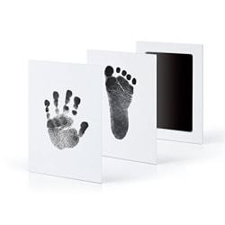 "Extra stort barnsäker ""Clean Inkless Touch"" fotavtryck och handpinne Black 9.5*5.7cm"
