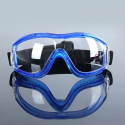 Ögonskyddande dammtåligt skyddsglasögon mot dimma utomhusarbete S Blue