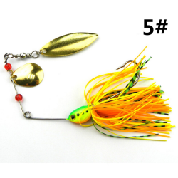 Fiske Hard Spinner Lure Spinnerbait Gädda Bass 16.3g / 0.57oz 5