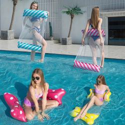 flytande stol vuxen vatten hängmatta vikbar stol uppblåsbar leksak J