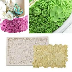 Flower Daisy Rose Silicone Cake Fondant Decorating Border Mold 1PC