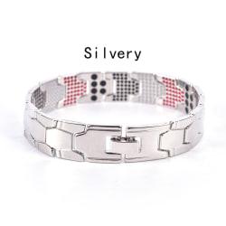 Hälsovård Magnetisk terapi armband män armband helande kedja Silvery