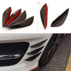 Högkvalitativ 4PCS Universal främre stötfångare Lip Splitter Fins Body Black 14cm