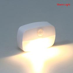 LED Night Light Trådlös rörelsesensor tänder trapplampor Warm Light