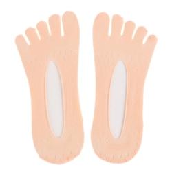 ortopediska kompressionsstrumpor tåstrumpor för kvinnor ultra low cut lin Pink