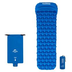 Utomhus självuppblåsande madrass Pad Air Camping Vandring sovande Blue A- inflatable Bag