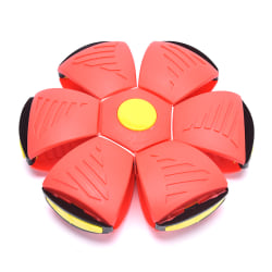 Utomhusleksak Flying Ball Beach Garden Game Throw Disc Ball Toy K red