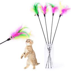 Husdjur katt leksak söt design fågel fjäder teaser troll plast leksak wi colorful Overall length: Approx. 65cm/25inch