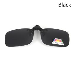 Polariserat klipp på solglasögon Driving Day Night Vision för Myopi Black