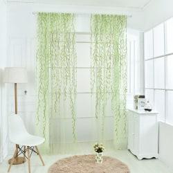 Pop Wicker Window Curtain Tulle Voile Drape Panel Sheer Scarf V Green 100*270