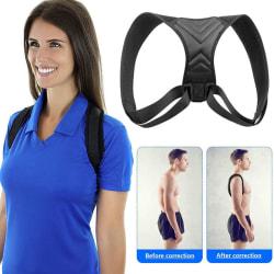 Hållningskorrigerare män Support Back Shoulder Pro Brace Belt Adju Extra large