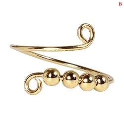 ringar roterar fritt anti stress ångest ring spiral pärlor roterar B