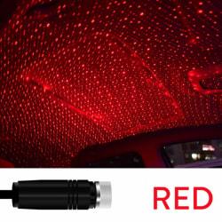 romantisk ledad stjärnhimmel nattlampa 5v usb-driven galaxstjärna p Red